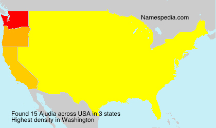 Surname Ajudia in USA