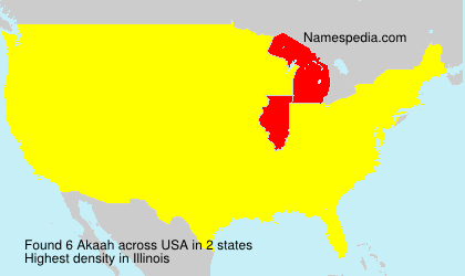 Surname Akaah in USA