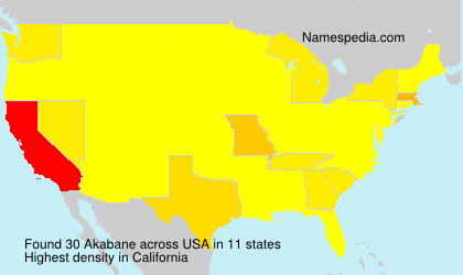 Surname Akabane in USA