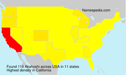 Surname Akahoshi in USA