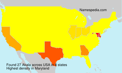 Surname Akala in USA