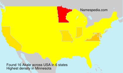 Surname Akale in USA