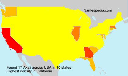 Surname Akali in USA