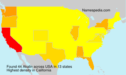 Surname Akalin in USA