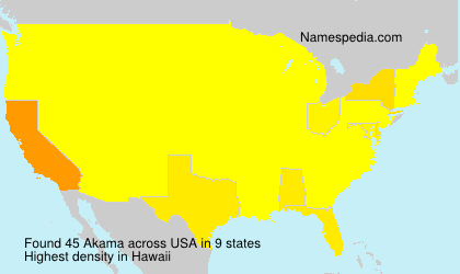 Surname Akama in USA