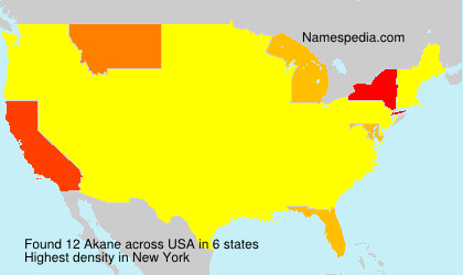 Surname Akane in USA