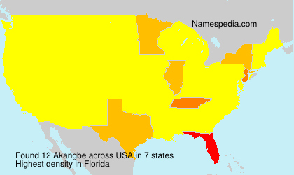 Surname Akangbe in USA
