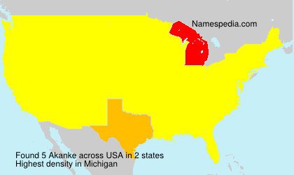 Surname Akanke in USA