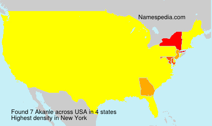 Surname Akanle in USA