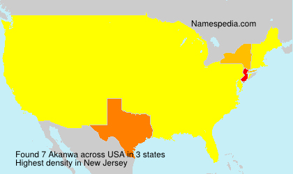 Surname Akanwa in USA