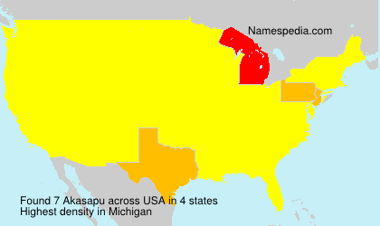 Familiennamen Akasapu - USA
