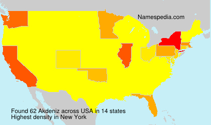 Surname Akdeniz in USA