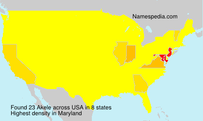 Surname Akele in USA