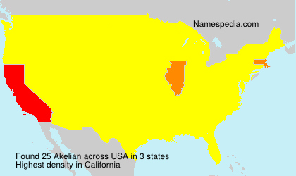 Surname Akelian in USA
