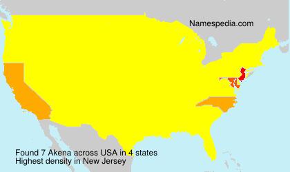 Surname Akena in USA