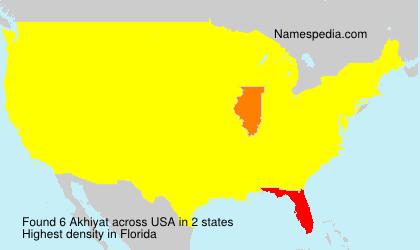 Surname Akhiyat in USA