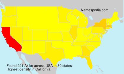 Surname Akiko in USA