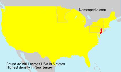 Surname Akilli in USA