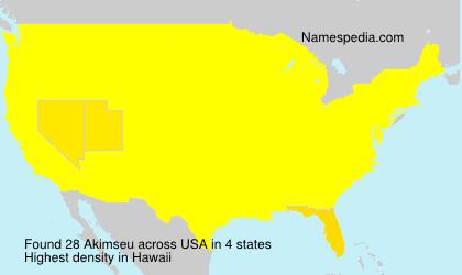 Surname Akimseu in USA