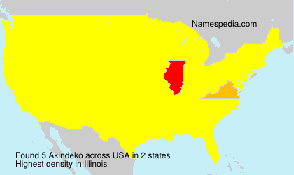 Surname Akindeko in USA