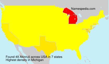 Familiennamen Akinruli - USA