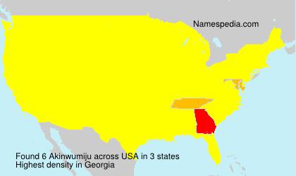 Familiennamen Akinwumiju - USA