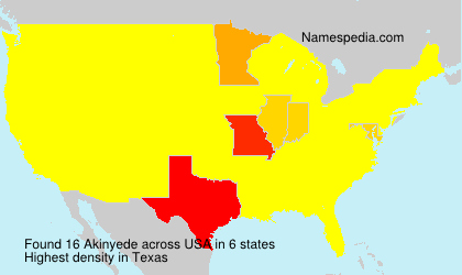 Surname Akinyede in USA