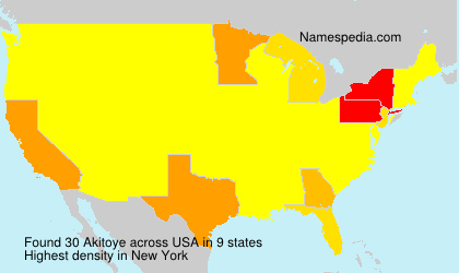 Surname Akitoye in USA
