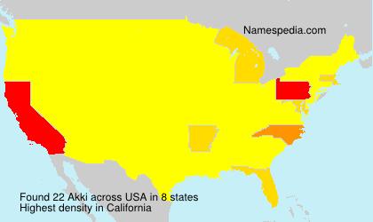 Surname Akki in USA