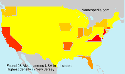 Surname Akkus in USA