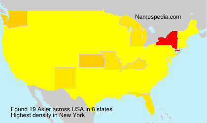 Surname Akler in USA