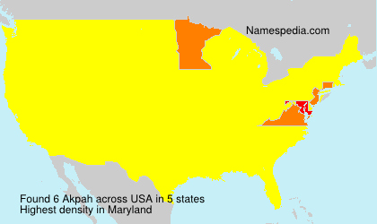 Surname Akpah in USA