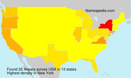 Surname Akpata in USA