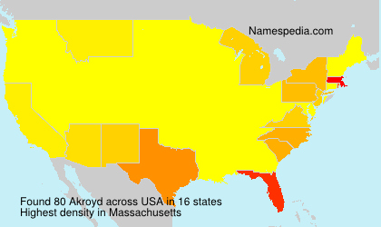 Surname Akroyd in USA