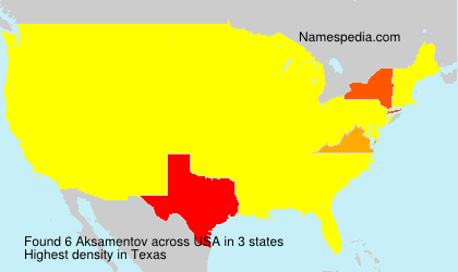 Surname Aksamentov in USA