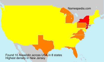 Surname Alaaeldin in USA