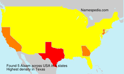 Surname Alaam in USA