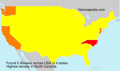 Surname Alaawar in USA