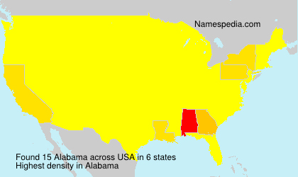 Surname Alabama in USA
