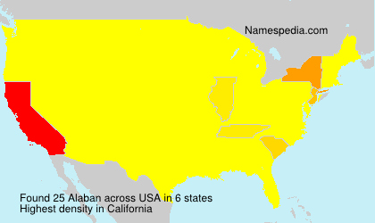 Surname Alaban in USA