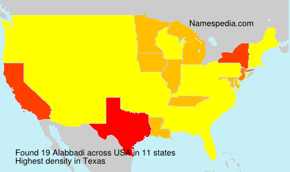 Surname Alabbadi in USA