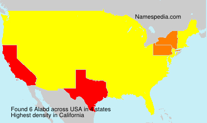 Surname Alabd in USA