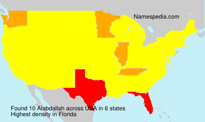 Surname Alabdallah in USA