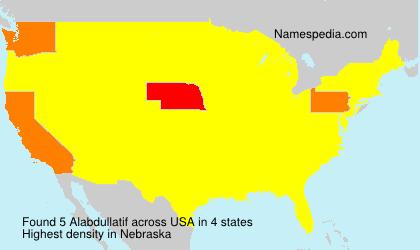 Surname Alabdullatif in USA