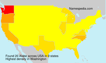 Surname Alabe in USA