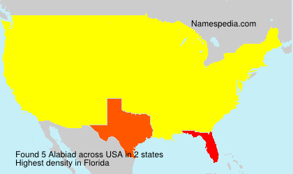 Surname Alabiad in USA