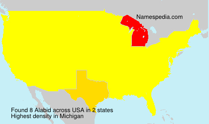 Surname Alabid in USA
