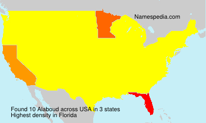 Surname Alaboud in USA