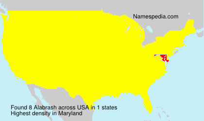 Surname Alabrash in USA