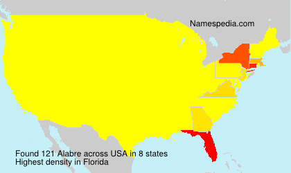 Surname Alabre in USA